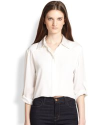 Alice + Olivia Sharon Cropped Blouse - Lyst