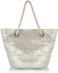 Oasis Stoupa Straw Bag silver - Lyst