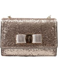 Ferragamo Handbag Woman gold - Lyst