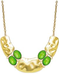 Style & Co. - Style&Co. Gold-Tone Green Pebble Cleo Necklace - Lyst