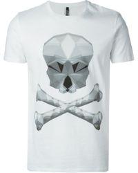 Neil Barrett Skull Printed T-shirt - Lyst