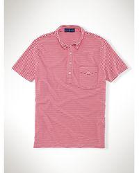 Polo Ralph Lauren Striped Jersey Polo Shirt - Lyst