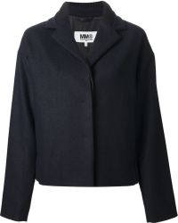 Mm6 By Maison Martin Margiela Short Coat - Lyst