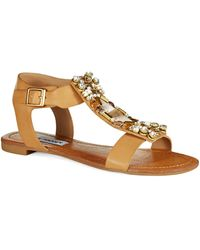 Steve Madden Brown Wiktor Sandals - Lyst