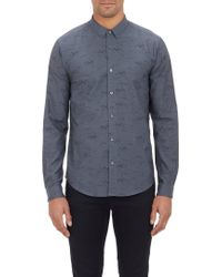 Theory Black Bird-jacquard Stephan Shirt - Lyst
