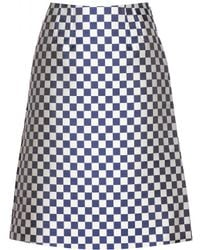 Marc By Marc Jacobs Checkboard Jacquard Skirt - Lyst