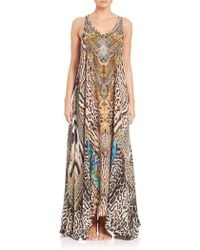 Camilla | Printed Silk Maxi Dress | Lyst