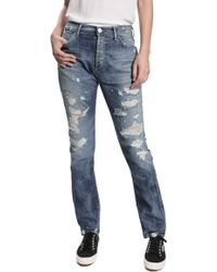 Goldsign Stevie Distressed Jeans - Lyst
