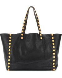 Valentino Gryphon Studs Leather Shopper - Lyst