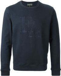 Emporio Armani Logo Sweatshirt - Lyst