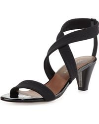 Donald J Pliner Vona Strappy Stretch Sandal Black - Lyst