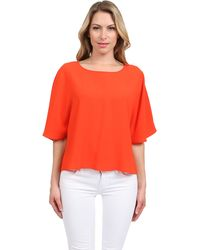 Tibi Crepe Cape Top - Lyst
