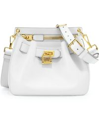 Tom Ford Womens Small Lockfront Crossbody Bag White - Lyst