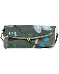 Burberry Prorsum Petal Hand-painted Leather Clutch - Lyst