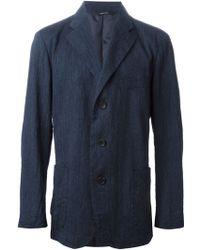 Issey Miyake Three Button Blazer blue - Lyst