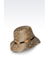 Giorgio Armani Hat In Printed Fabric animal - Lyst