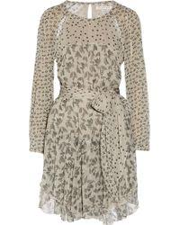 Etoile Isabel Marant Prewitt Printed Chiffon Mini Dress - Lyst