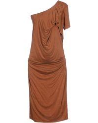 Plein Sud Jeanius Knee-Length Dress brown - Lyst