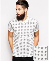Asos Polo Shirt with Pyramid Print - Lyst