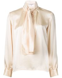 Yves Saint Laurent Vintage Tie Neck Blouse - Lyst