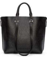 CoSTUME NATIONAL - Black Leather Tote Bag - Lyst