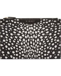 Givenchy Black Dot Print Antigona Medium Zip Pouch - Lyst
