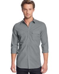 Calvin Klein Double-pocket Poplin Shirt - Lyst