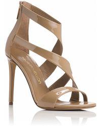 Tamara Mellon Tiger Patent Sandal - 105Mm brown - Lyst