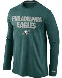 Nike Mens Long-sleeve Philadelphia Eagles Foundation T-shirt - Lyst