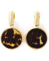 Yves Saint Laurent Vintage Hoop Clip On Earrings - Lyst