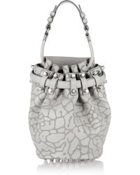 Alexander Wang - Diego Printed Leather Shoulder Bag - Lyst