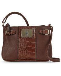 48c31b5de2 U.S. POLO ASSN. - Chocolate Dillon Classic Saddle Bag - Lyst