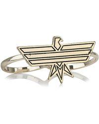 Topman Geometric Eagle Ring - Lyst