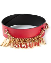 Moschino Logo Chain Belt - Lyst