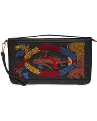 KTZ   Tarot Embroidery Leather Clutch   Lyst