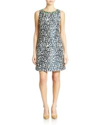 Eliza J Beaded Animal Print Dress - Lyst