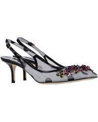 Dolce & Gabbana Pump gray - Lyst