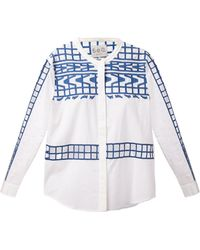 Sea Embroidered Shirt - Lyst