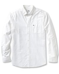 Lacoste Ls Button Down Oxford Woven Shirt - Lyst