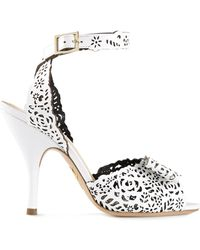 Charlotte Olympia Cut Out Sandals - Lyst