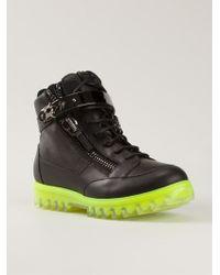 Giuseppe Zanotti Black Hitop Sneakers - Lyst