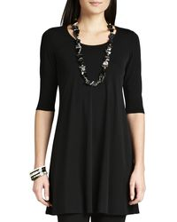 Eileen Fisher Viscose Jersey Tunic - Lyst