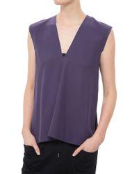 Helmut Lang Mere Silk Top purple - Lyst