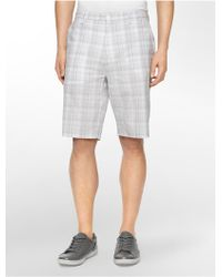 CALVIN KLEIN 205W39NYC - White Label Classic Fit Chambray Twill Shorts - Lyst