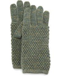 Portolano Metallic Knit Gloves - Lyst