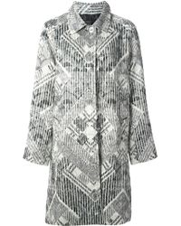 Marc By Marc Jacobs Multicolor Printed Coat - Lyst