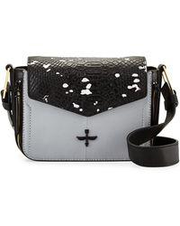 Pour La Victoire Noemi Snake-Embossed Leather Crossbody Bag - Lyst