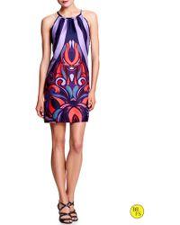 Banana Republic Factory Print Halter Dress  Warm Combo - Lyst