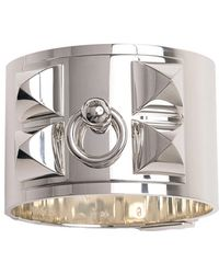 Hermès | Sterling Silver Wide Collier De Chien Bracelet | Lyst