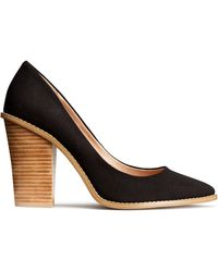 H&M Canvas Court Shoes - Lyst